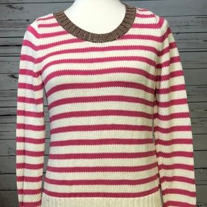 ☀️Banana Republic pink Striped Sweater Medium